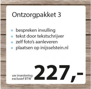 Ontzorgpakket 3 - Studio Pilon