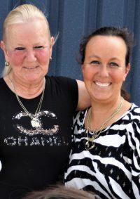 Ellen en Mercedes van Manege Castellum