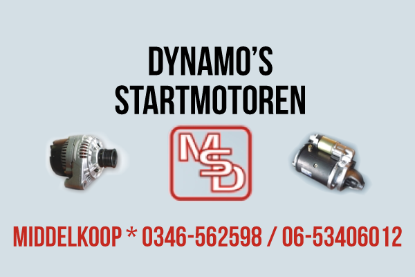 MSD dynamo's en startmotoren